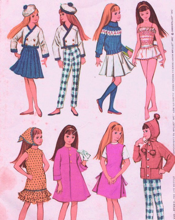 Instant PDF Download Vintage Sewing Pattern to make A Full Wardrobe of Pretty