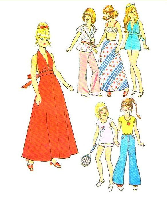 Instant PDF Download Vintage Sewing Pattern for a Large Selection or Wardrobe of
