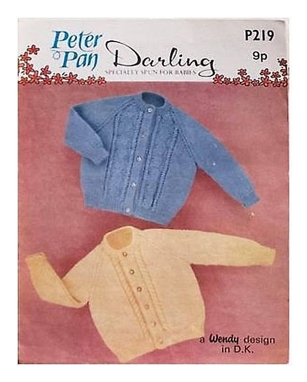 Instant Digital Download Vintage Row by Row Knitting Pattern PDF Baby Clothes: