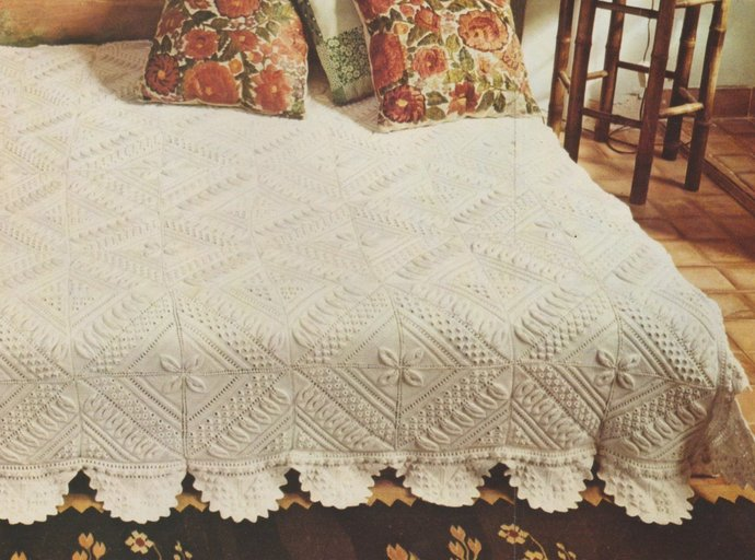 Instant PDF Download Vintage Row by Row Knitting Pattern to make An Heirloom