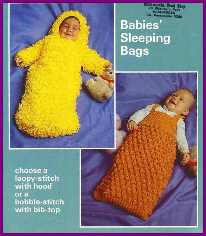 Instant PDF Digital Download Vintage Knitting Pattern to make 2 Baby