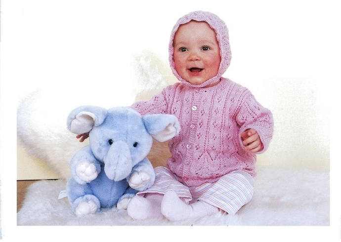 Instant PDF Digital Download Vintage Knitting Pattern to make Baby A Lace