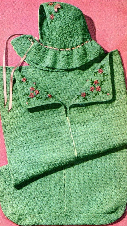 Almost FREE Instant PDF Digital Download Vintage Knitting Pattern Baby Bebé