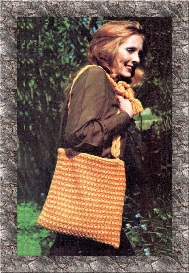 ALMOST FREE Instant Download PDF Vintage Easy Beginners Knitting Pattern Large