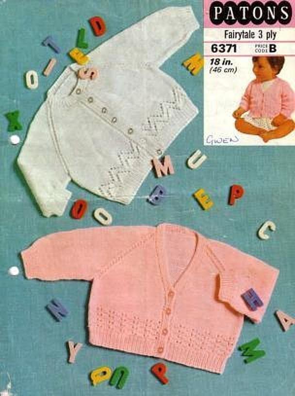 Instant PDF Digital Download Vintage Knitting Pattern to make Baby Bebe Long