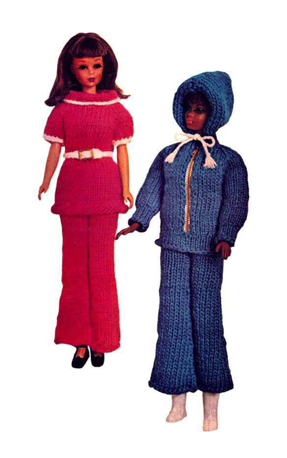 Instant PDF Digital Download Vintage Sixties Knitting Pattern to make Teenage