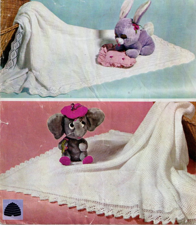 Instant PDF Digital Download Vintage Row by Row Knitting Pattern to make Two