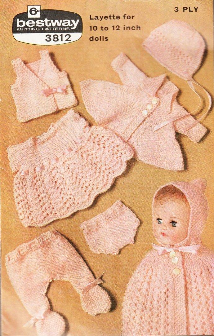 PDF Digital Vintage Row by Row Fifites Knitting Pattern PDF to make Dolls
