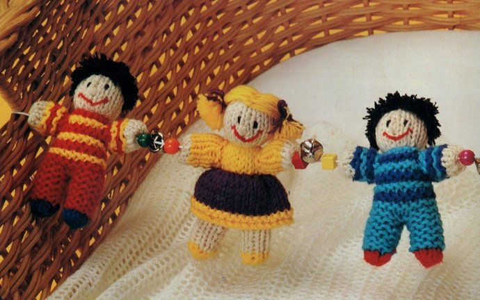 Instant Download PDF Vintage Knitting Pattern to make Baby A Pretty Boy & Girl