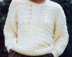 21f65ea08 Instant PDF Download Vintage Row by Row Knitting Pattern to make Ladies  Oversize Loose Fitting Aran Inspired Chunky Sweater Pullover 32-40