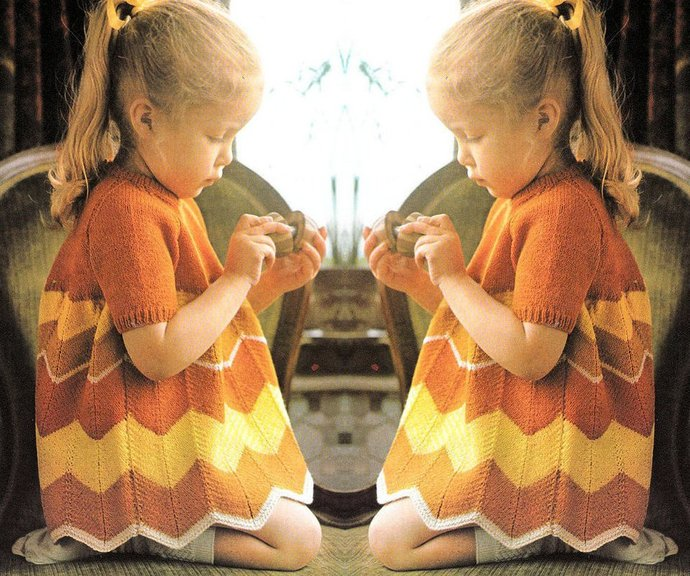 Instant Digital Download PDF Vintage EASY Knitting Pattern to make A Girl's