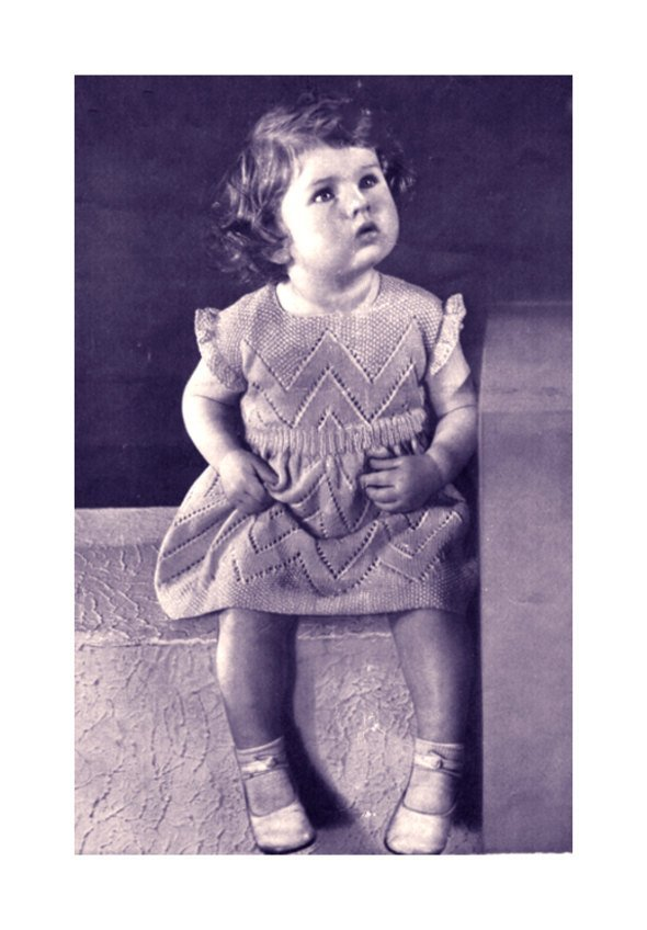 Instant PDF Digital Download Vintage Row by Row Knitting Pattern to make Baby