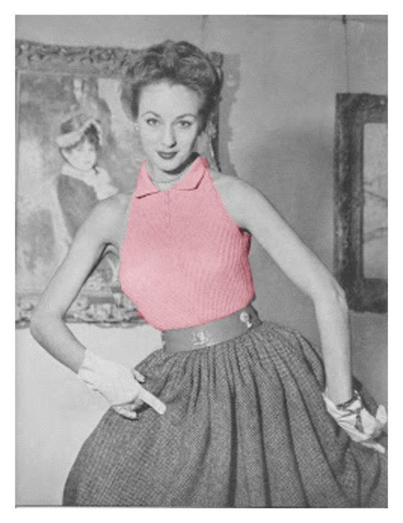 Almost Free Instant PDF Download Vintage Knitting Pattern to make Ladies Pretty