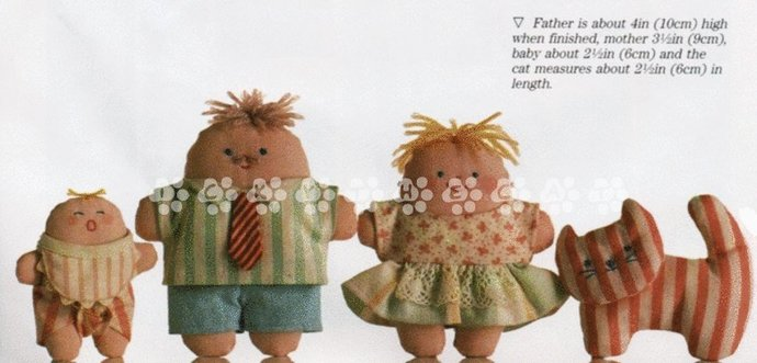 Vintage Part Chart or Graph Sewing Pattern to make Am Easy Soft Stuffed Plush