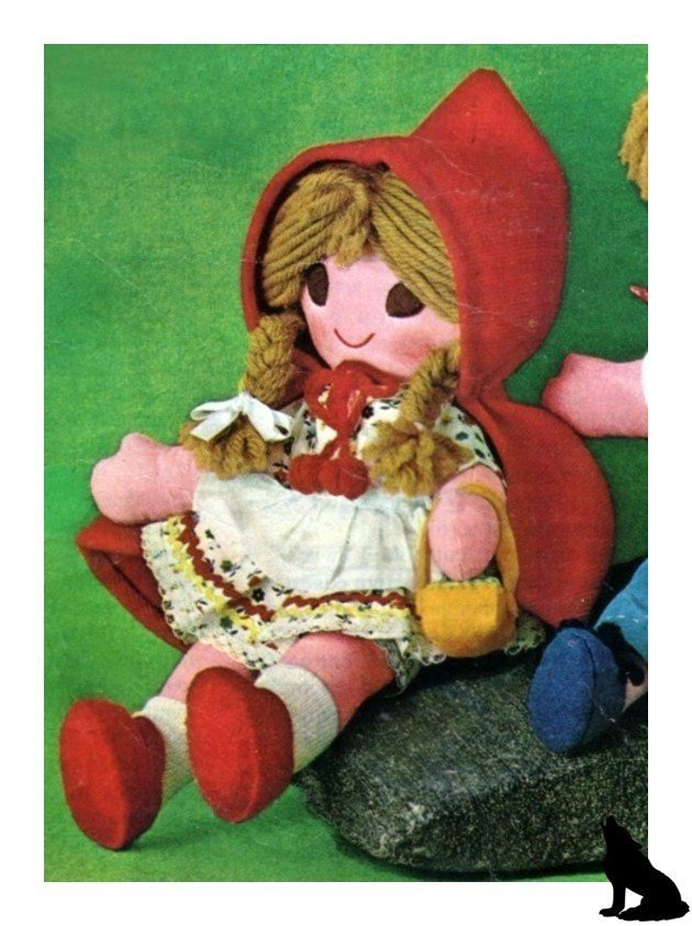 Vintage Sewing Pattern to make Little Red Riding Hood A Stuffed,Soft, Plush Soft