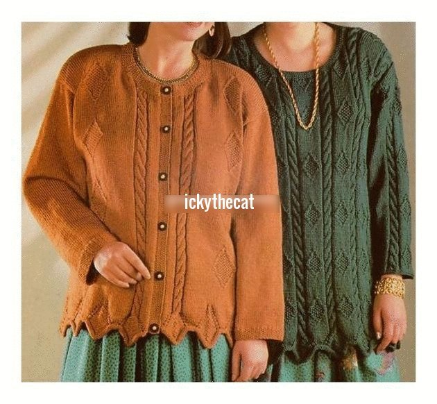 524caab8c Instant Digital Download PDF Vintage Knitting Pattern to make Ladies Loose