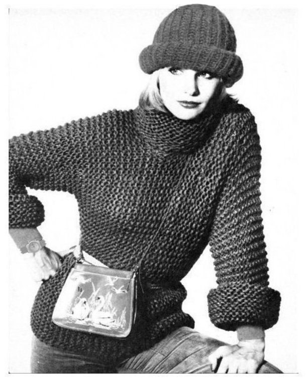 ALMOST FREE Instant Download PDF Row by Row Knitting Pattern Ladies Quick Aran