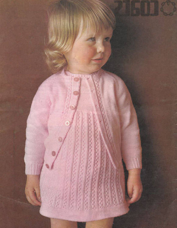 Instant PDF Digital Download Vintage Row by Row Knitting Pattern Baby Bebe