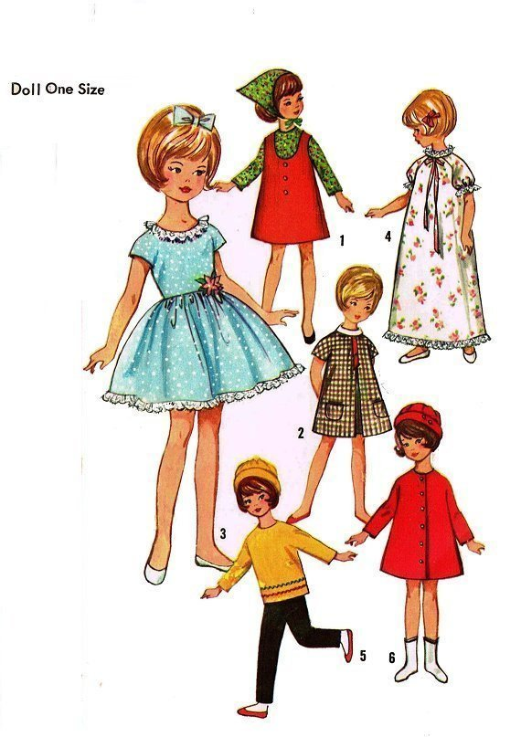 Instant PDF Download Vintage Sewing Pattern to make a Wardrobe of Clothes for An