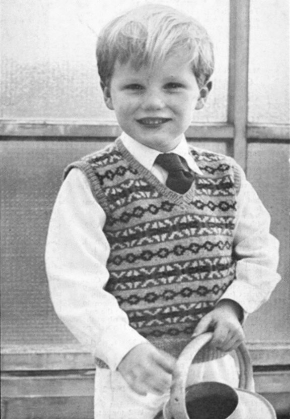 Almost Free Instant Download PDF Vintage Row by Row Knitting Pattern Boys