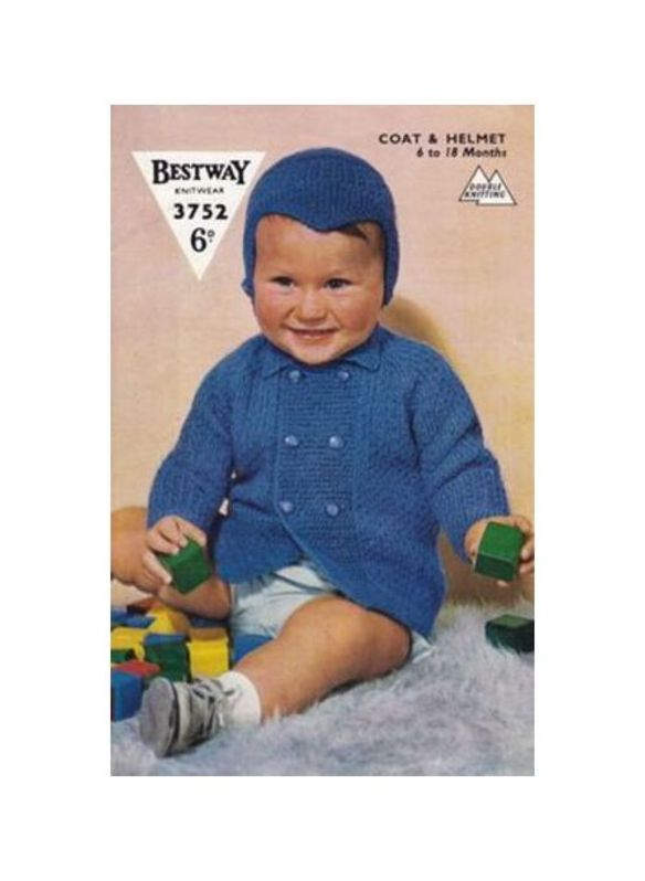Instant PDF Download Vintage Knitting Pattern to make Baby & Toddlers A Long