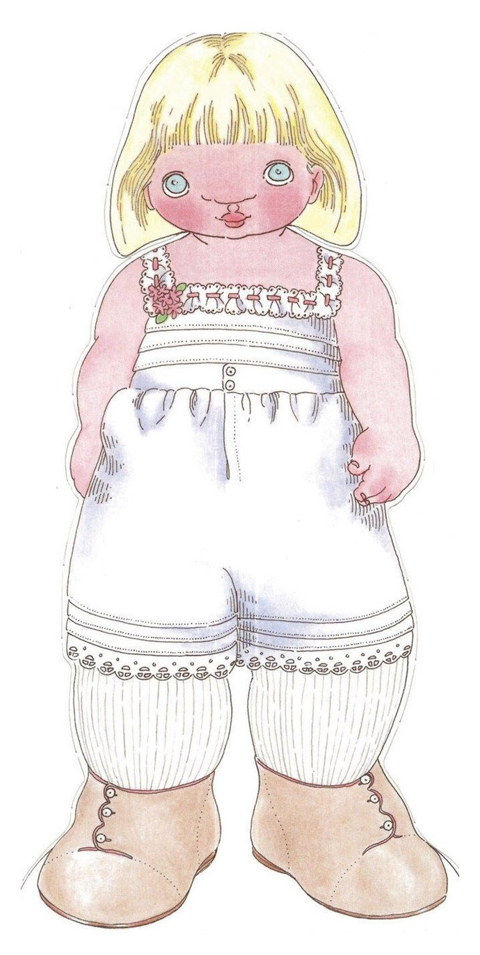 ALMOST FREE Instant PDF Download Vintage Children's Paper Craft Sweet Paper Doll