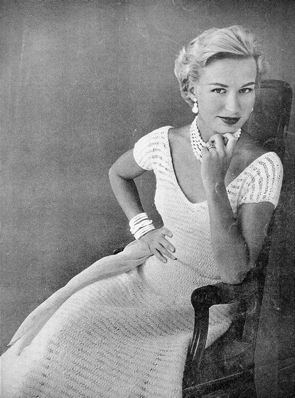 FREE Instant PDF Download Vintage Row by Row Knitting Pattern to make A Ladies