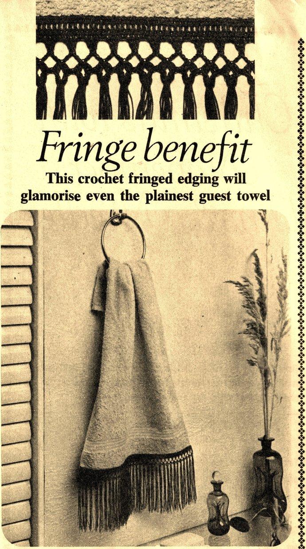 Instant PDF Digital Download Vintage Crochet Pattern to make an Upholstery or