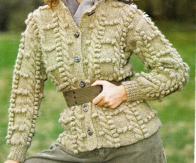 a43a22f60bc2 Instant PDF Download Vintage Row by Row Knitting Pattern to make a Ladies  Bulky