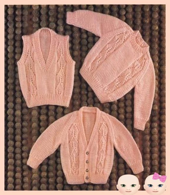 Instant Download PDF Vintage Knitting Pattern to make a Baby Toddler Sweater