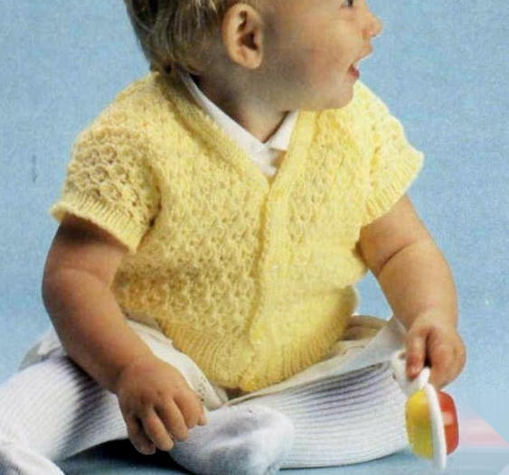 Instant PDF Download Vintage Row by Row Knitting Pattern to make Baby Bebe A