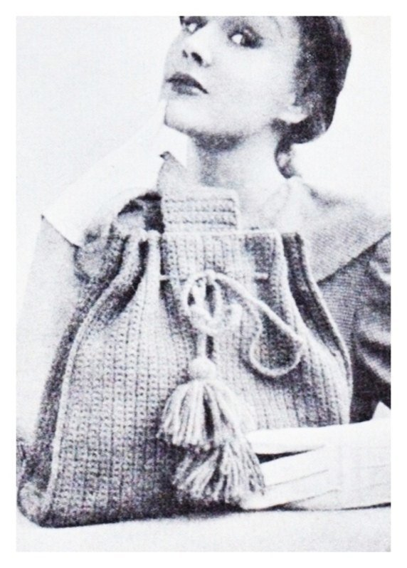Instant PDF Download Vintage Crochet Pattern to make a Tote Bag, Holdall, Carry