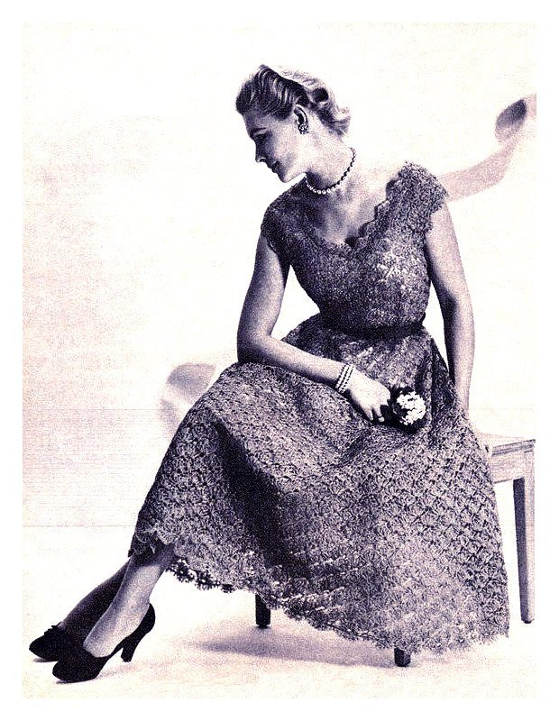ALMOST FREE Instant PDF Download Vintage Row by Row Knitting Pattern Ladies