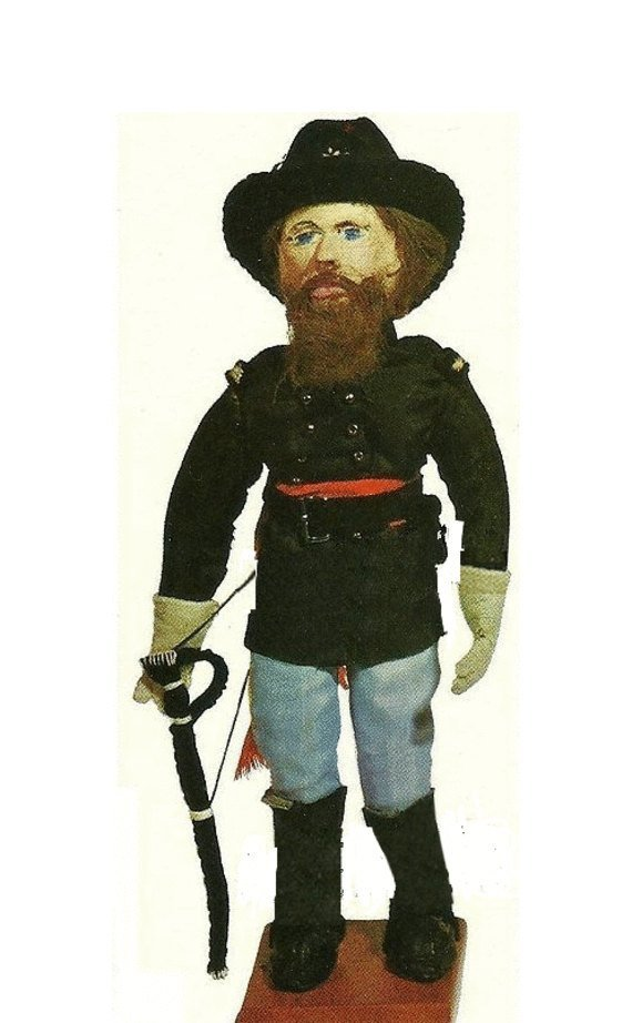 "Instant PDF Digital Download Vintage Sewing Pattern 10"" Colonel Soldier Dolls"