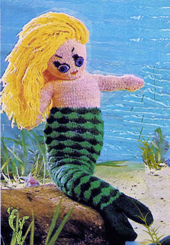 Instant Download PDF Vintage Row by Row Knitting Pattern to make a Cute Stuffed