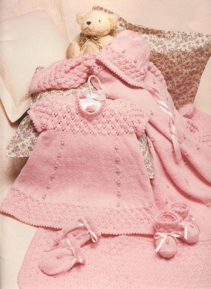 INSTANT PDF Digital Download Vintage Row by Row Knitting Pattern to make A Baby