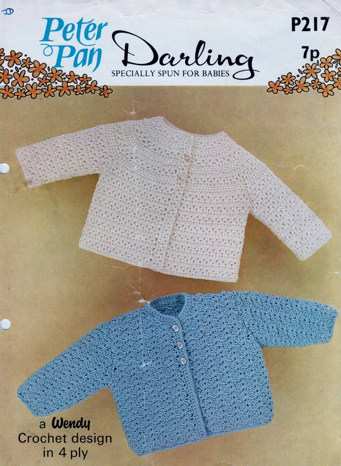 Instant PDF Digital Download Crochet Pattern Peter Pan P217 Baby Clothes 2
