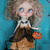 Blythe doll witch dress *going batty* OOAK outfit