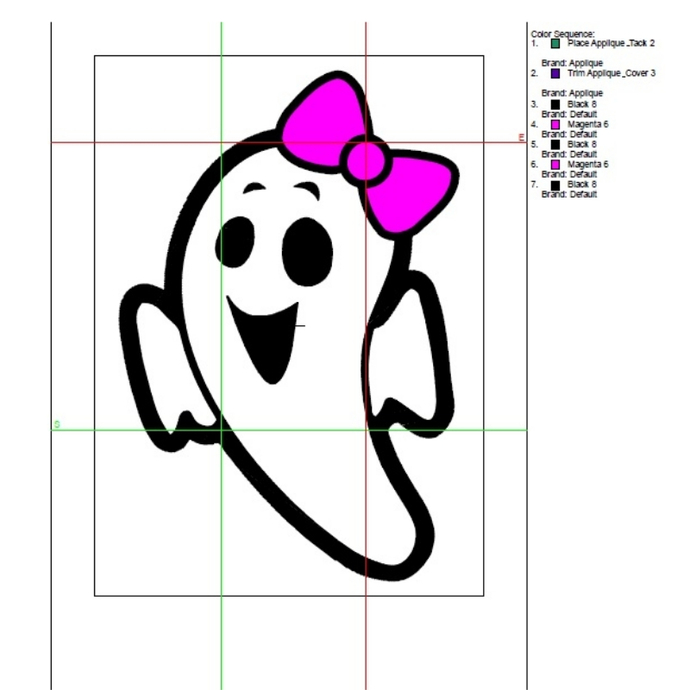 Halloween Embroidery machine designs Ghost girl applique pes Ghost Digital