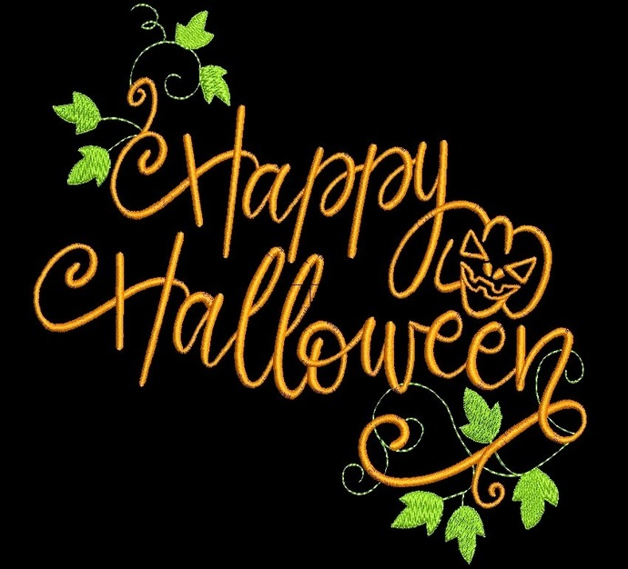 Happy Halloween Embroidery Machine Designs pumpkin pes
