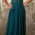 The green lace ball gown party dress, the sweet 16 dress party dress.