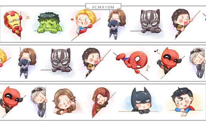 1 Roll of Limited Edition Washi Tape: Hero x Hero