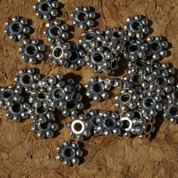 Antiqued Daisy Spacers 10-1215