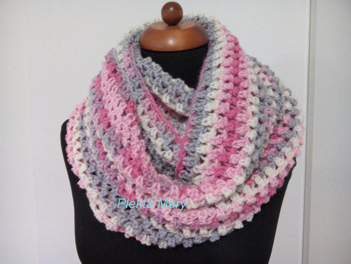 Crochet scarf, crochet scarves, colorful neck warmer, crochet cap, infinity