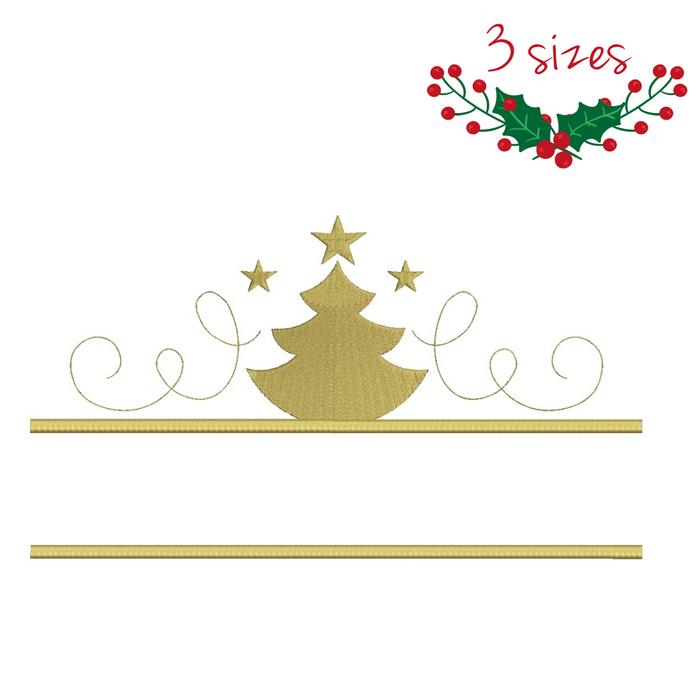 Christmas frame split machine embroidery designs monogram instant digital