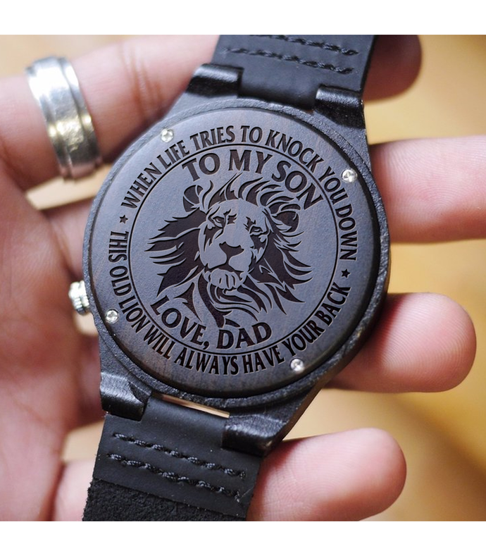 Great Gift For Son Wooden Watch - Perfect Dad's Gift To Son