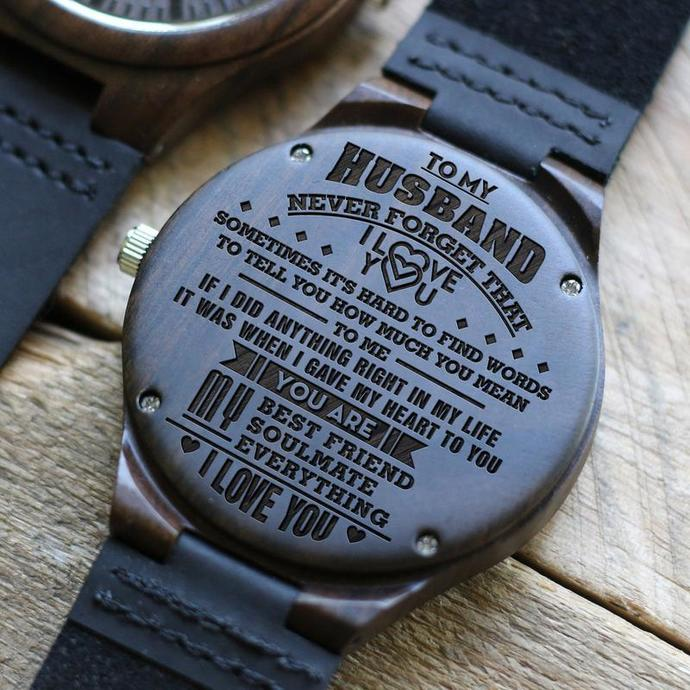 Gifts For Husband Wooden Watch With Perfect Engraving