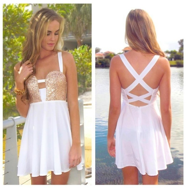 White Cocktail Dresses for Teens