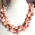925 Sterling Silver Pink Opal Faceted Heart Loose Beads Jewelry Necklace