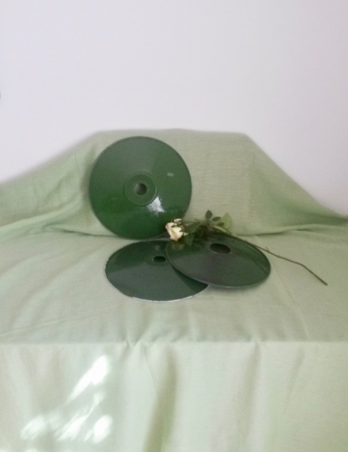 3 Pendant Enamel Light Shades, Enamel Lampshade, Ceiling Lamp Shade, Hanging